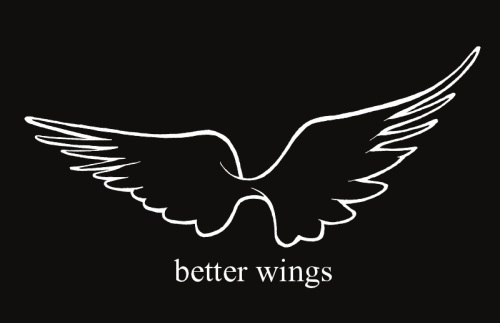 blacker wings with text