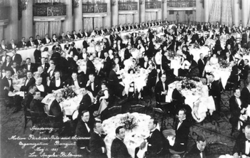 May 11, 1927: Academy of Motion Picture Arts and Sciences Meeting (Photo by Hulton Archive/Getty Images)